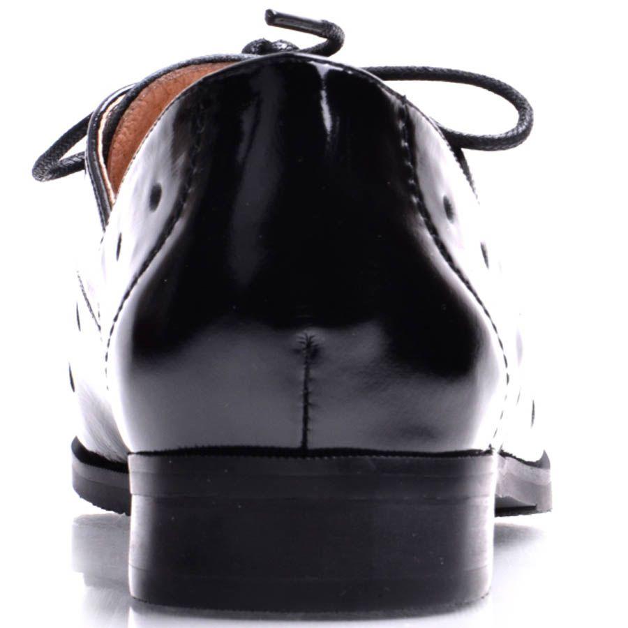 Туфли Prego женские лаковые черного цвета открытые со сквозными дырочками