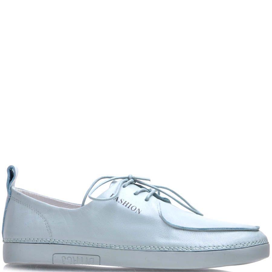 Туфли Prego кожаные голубого цвета