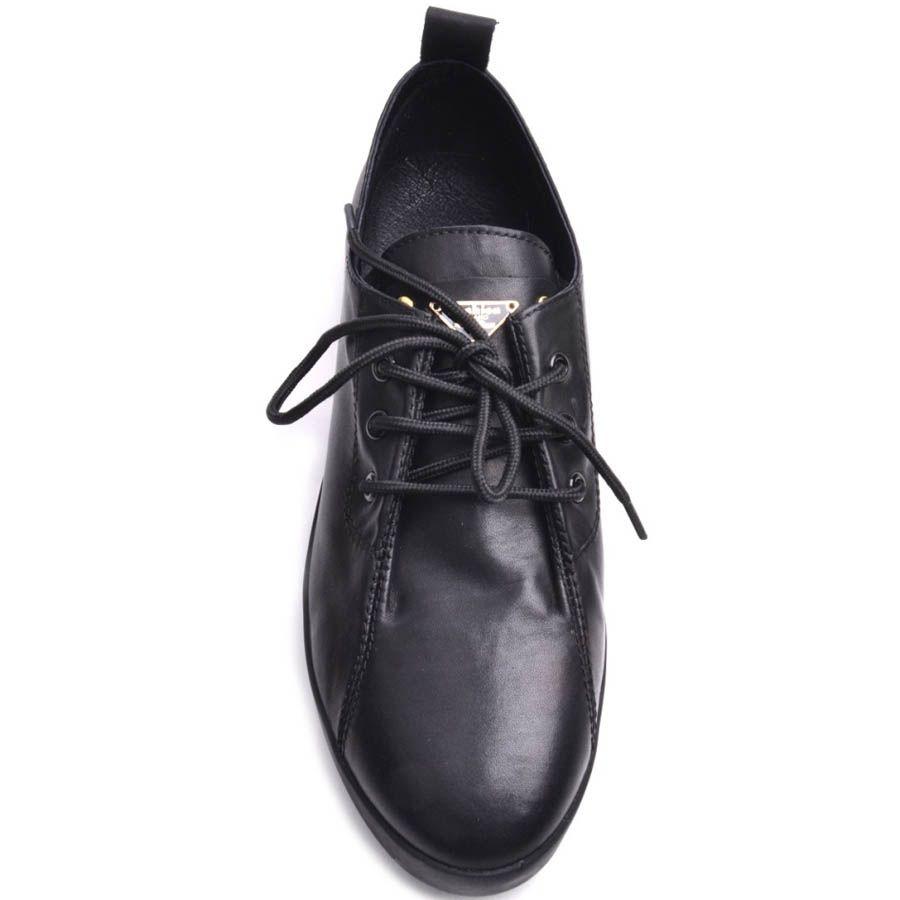 Кеды Prego женские кожаные черного цвета