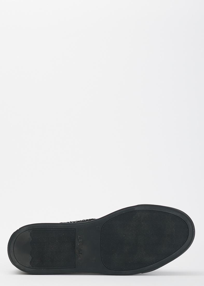 Высокие кеды  Le Silla из черного кружева