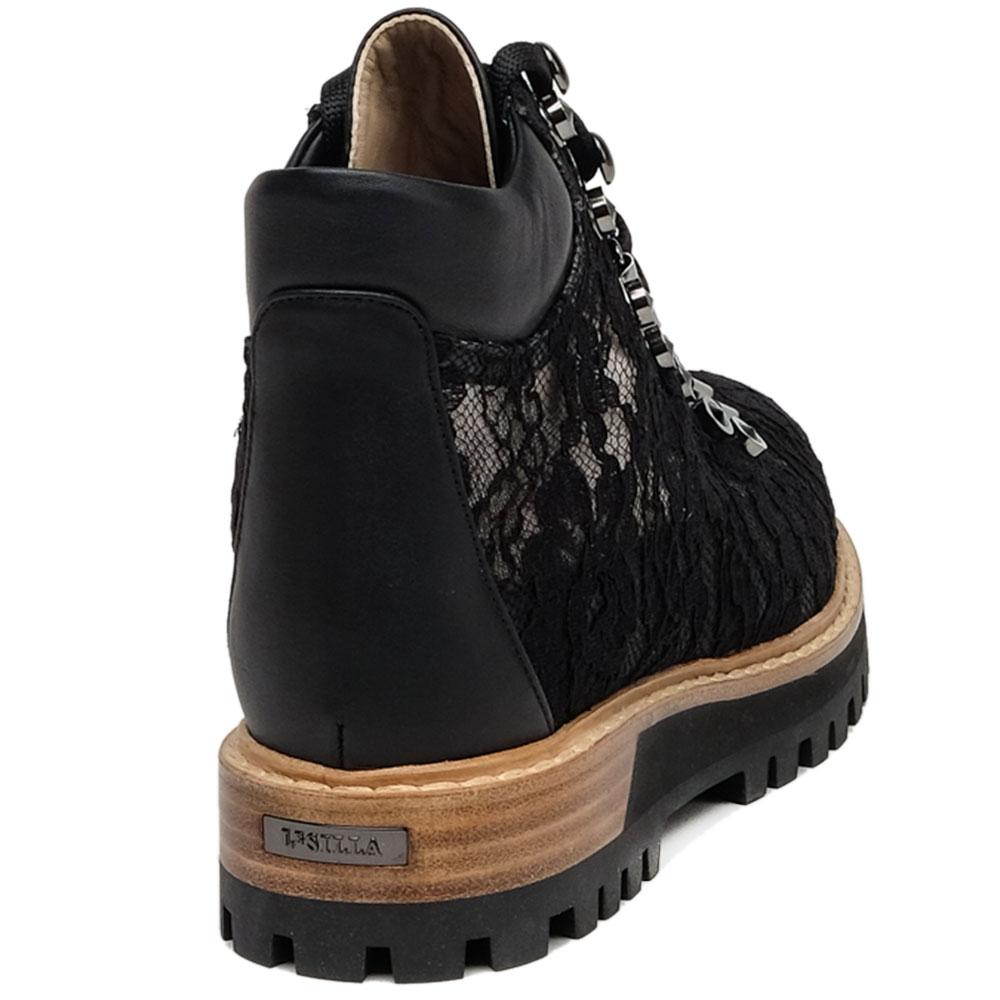 Ботинки Le Silla с декором-стразами черного цвета