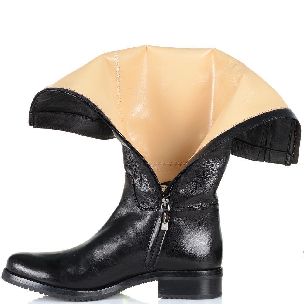 Демисезонные сапоги Loriblu из гладкой кожи с округлым носком