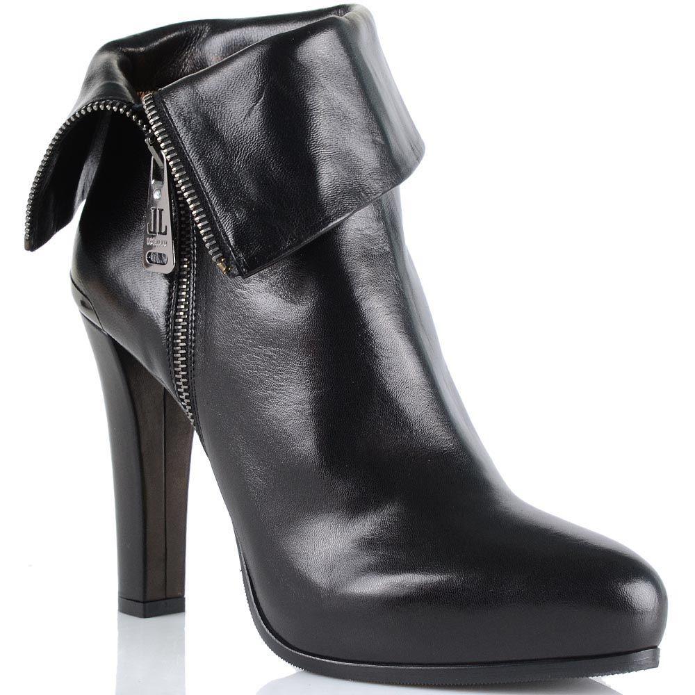 Женские ботинки Loriblu на среднем каблуке с декоративным отворотом