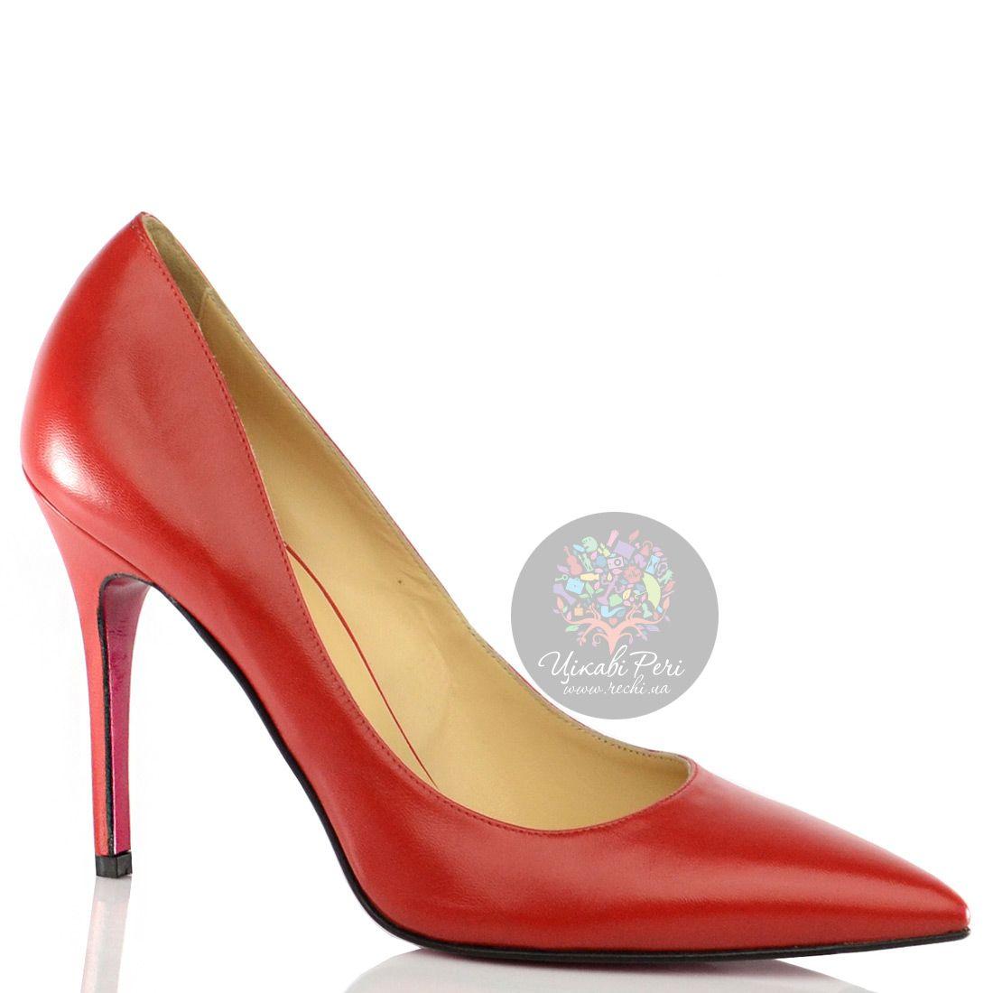 Туфли-лодочки Luciano Padovan из кожи классического красного цвета на шпильке