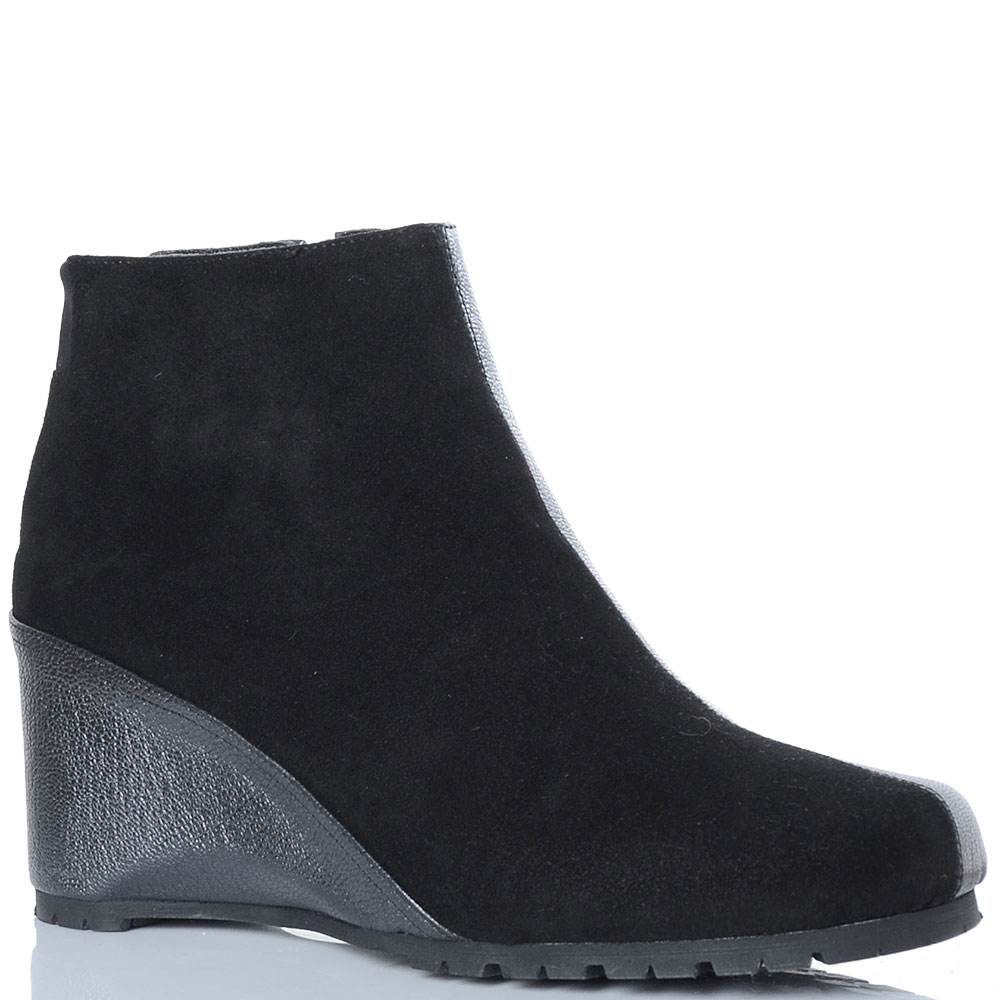 Зимние ботинки Thierry Rabotin из сочетания замши и кожи