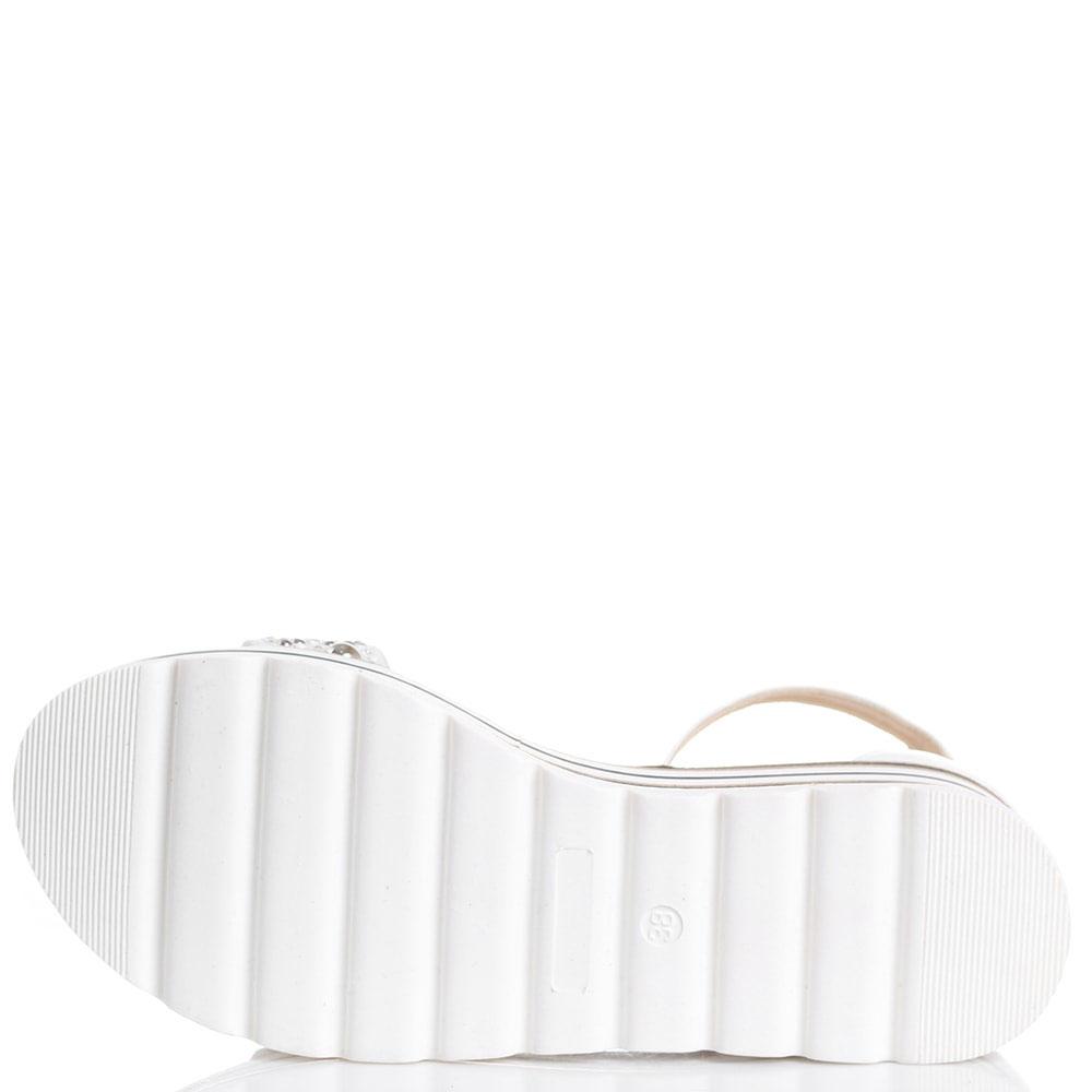 Белые босоножки на платформе Loretta Pettinari