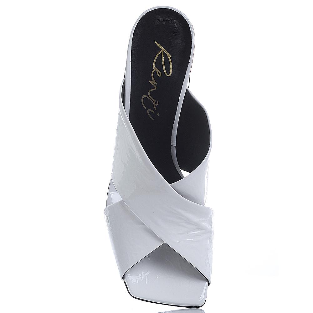 Мюли Gianni Renzi Renzi на высоком каблуке белого цвета