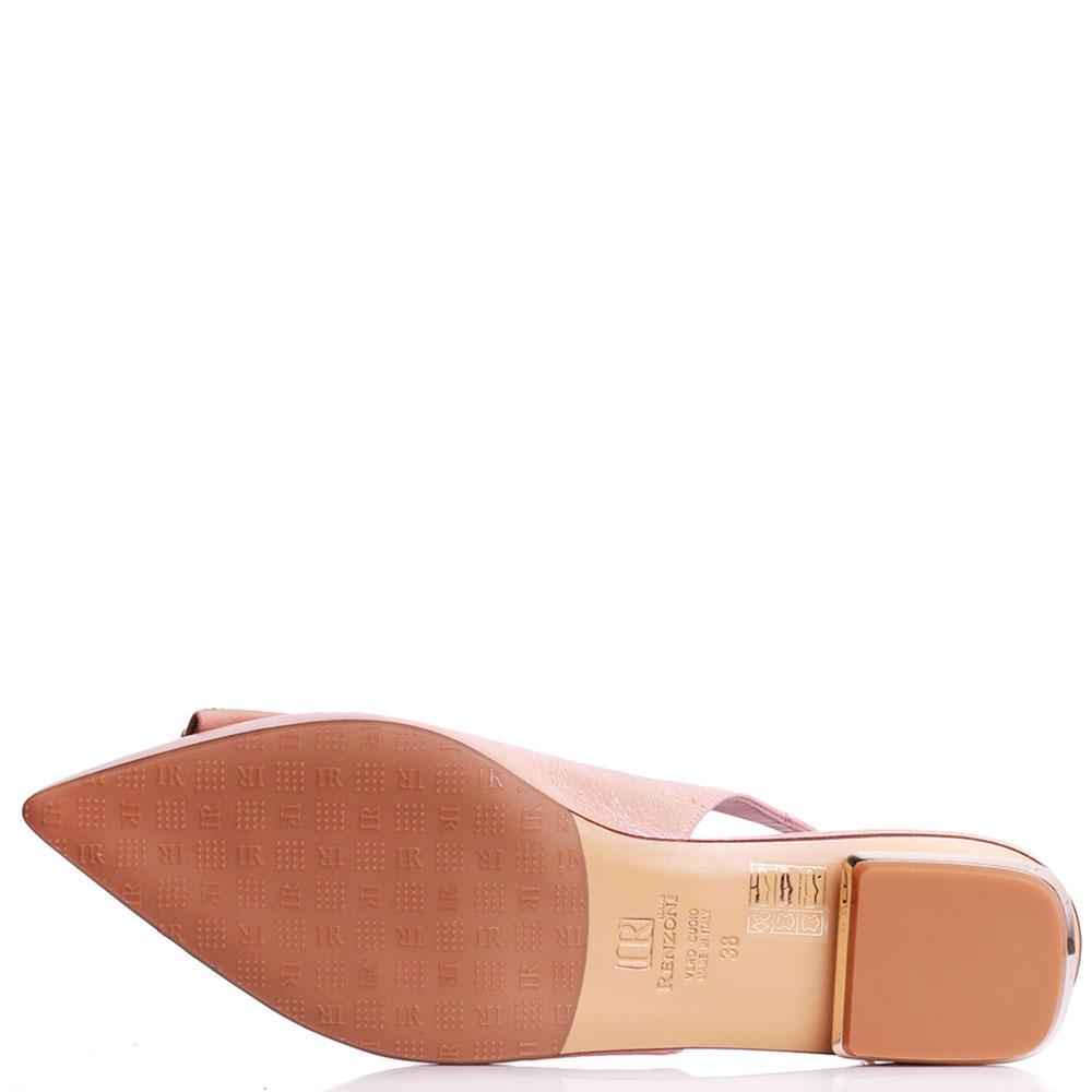 Туфли-слингбэки Ilasio Renzoni с декором на носке