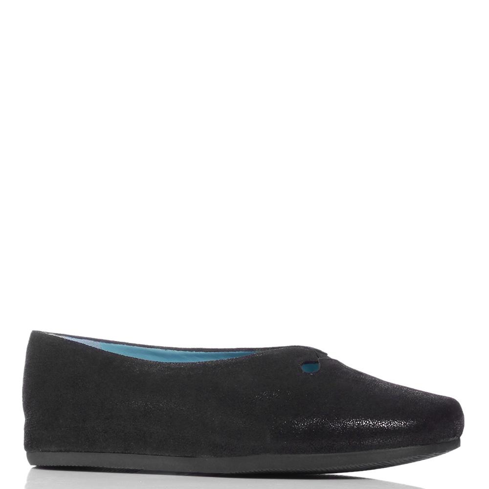 Черные туфли Thierry Rabotin на скрытой танкетке