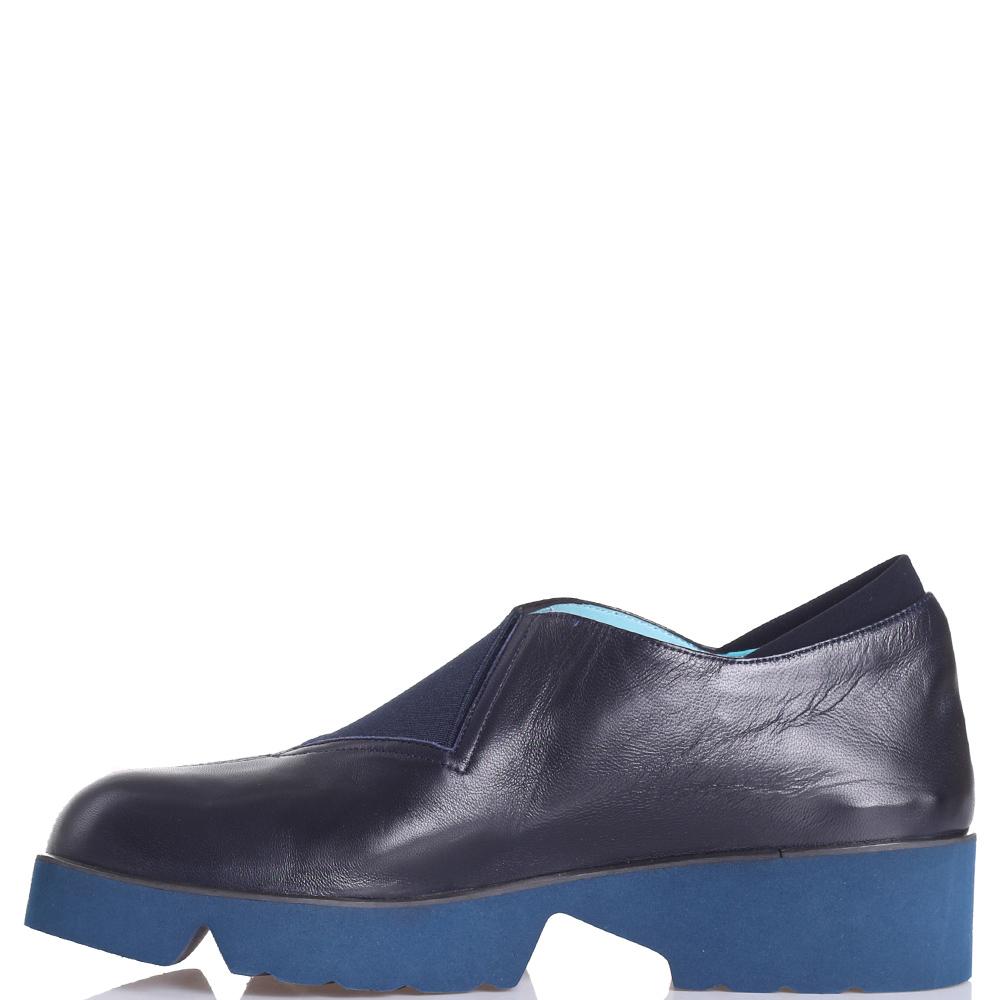 Синие туфли Thierry Rabotin со вставками-резинками