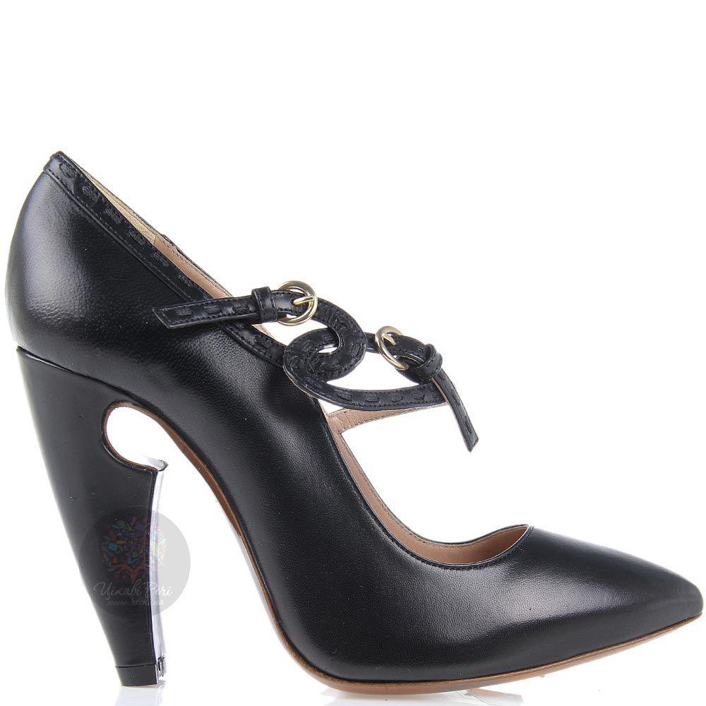 Туфли Giordano Torresi черные на фигурном каблуке