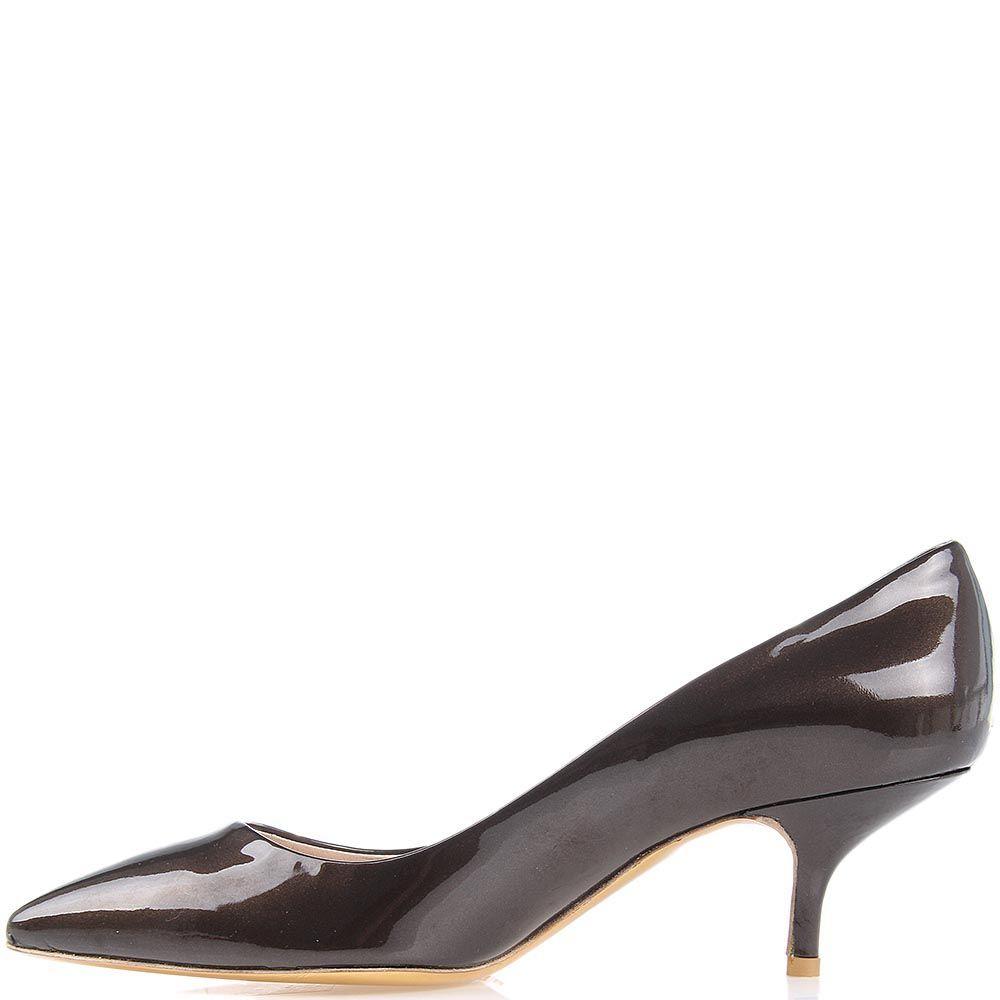 Туфли Giordano Torresi Luxury Brown лаковые на среднем каблуке