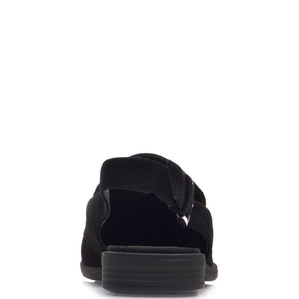 Босоножки Prego из натуральной черной замши с аппликацией из страз разных размеров