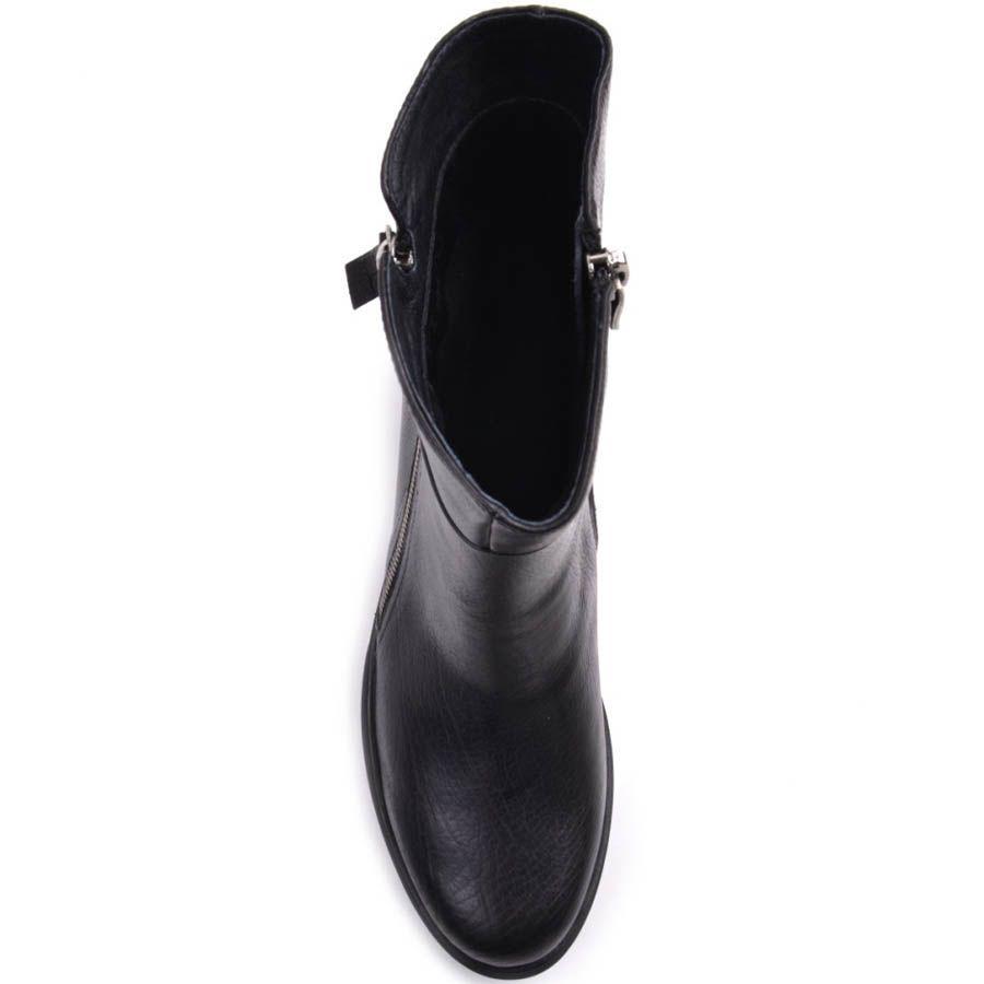 Ботинки Prego черного цвета кожаные с двумя молниями и на толстой подошве