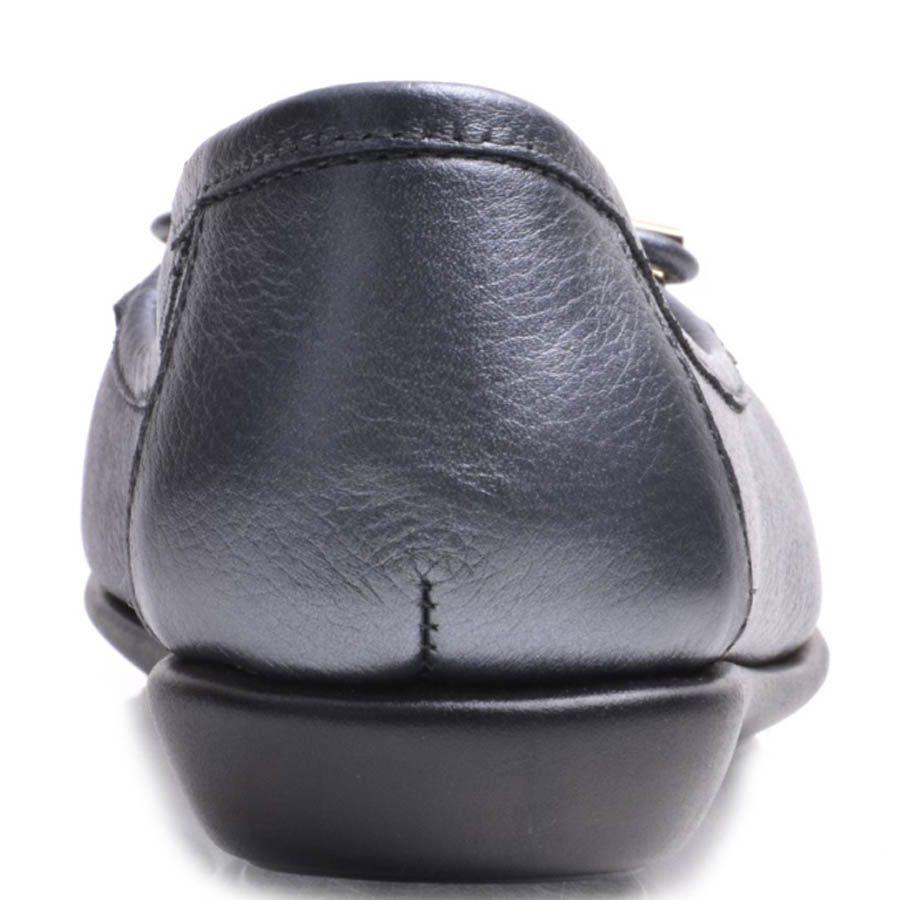 Балетки Prego кожаные серого цвета с бантиком