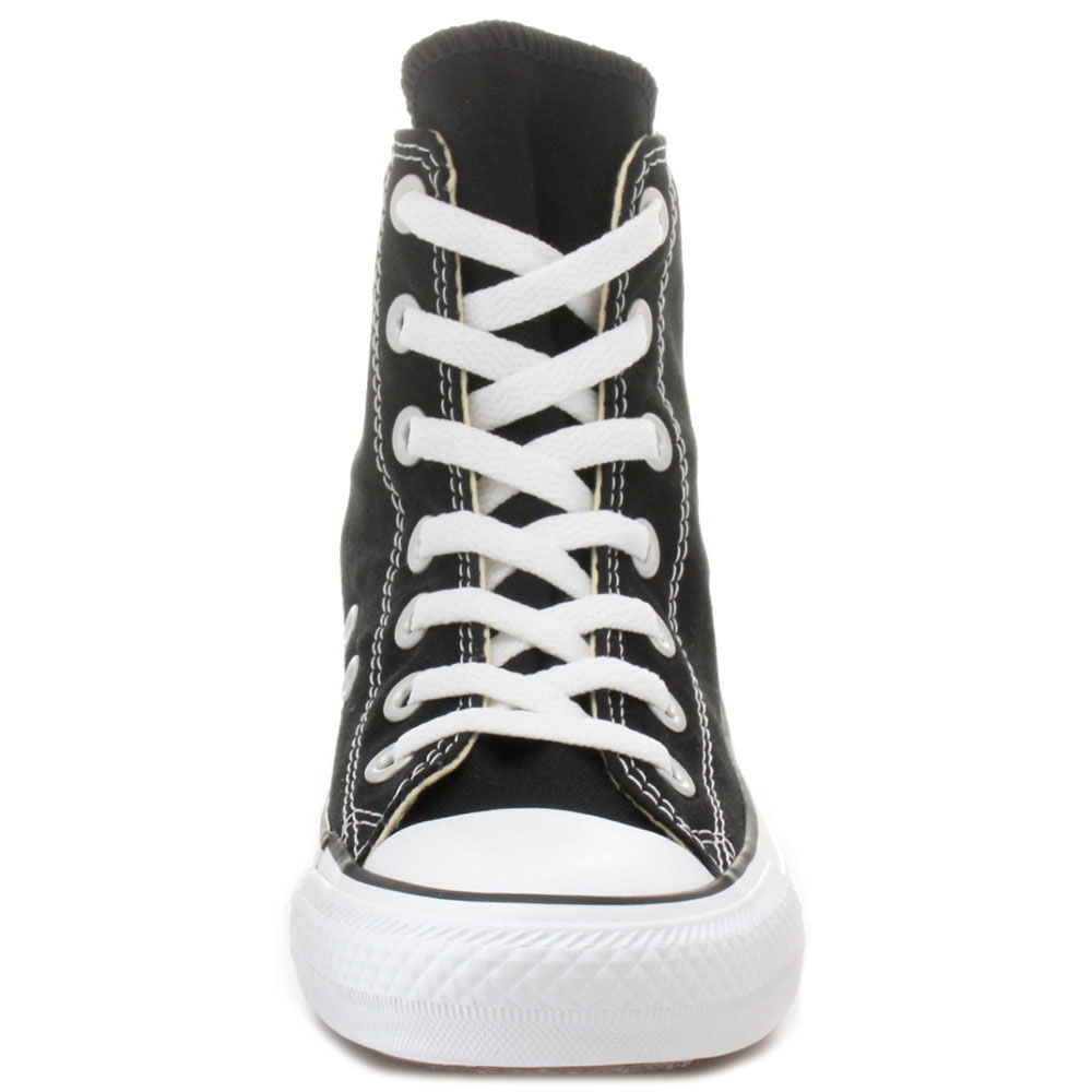Черные высокие кеды Converse Chuck Taylor с белой подошвой и шнуровкой