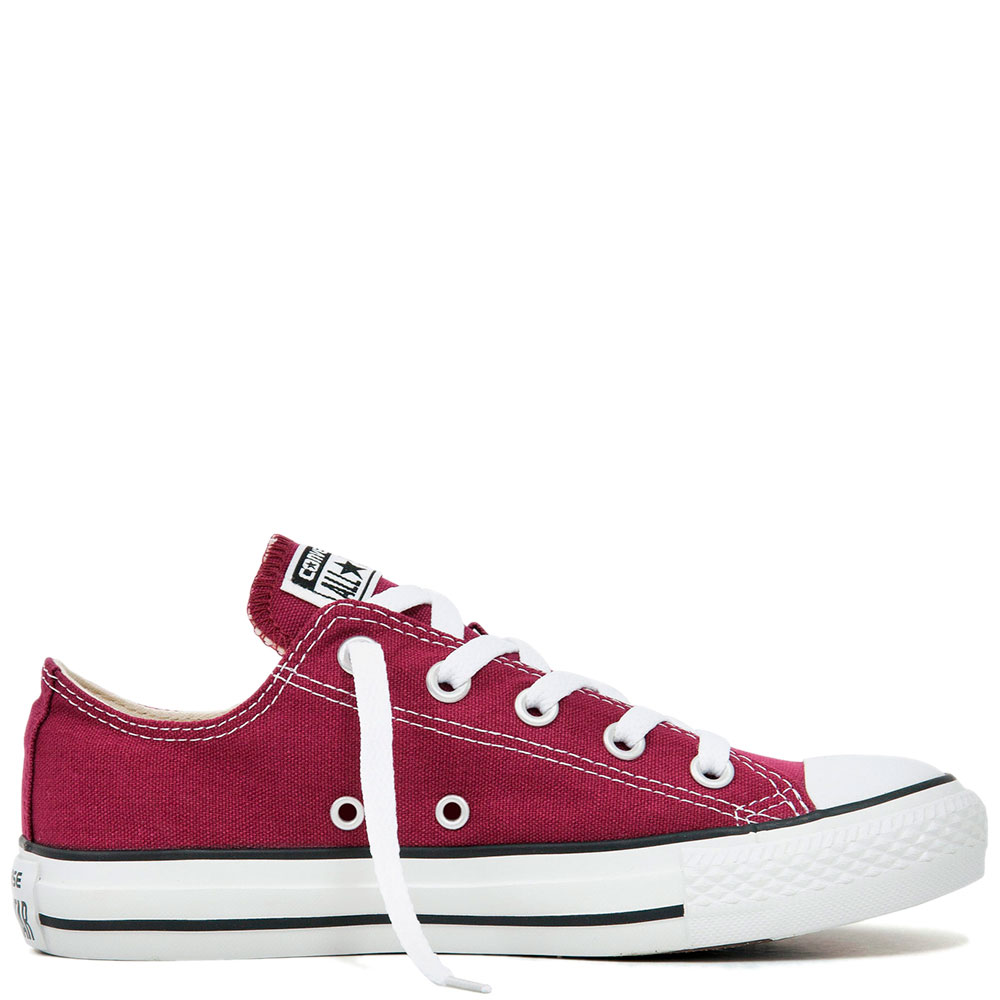 Кеды Converse All Star Ox Maroon бордовые
