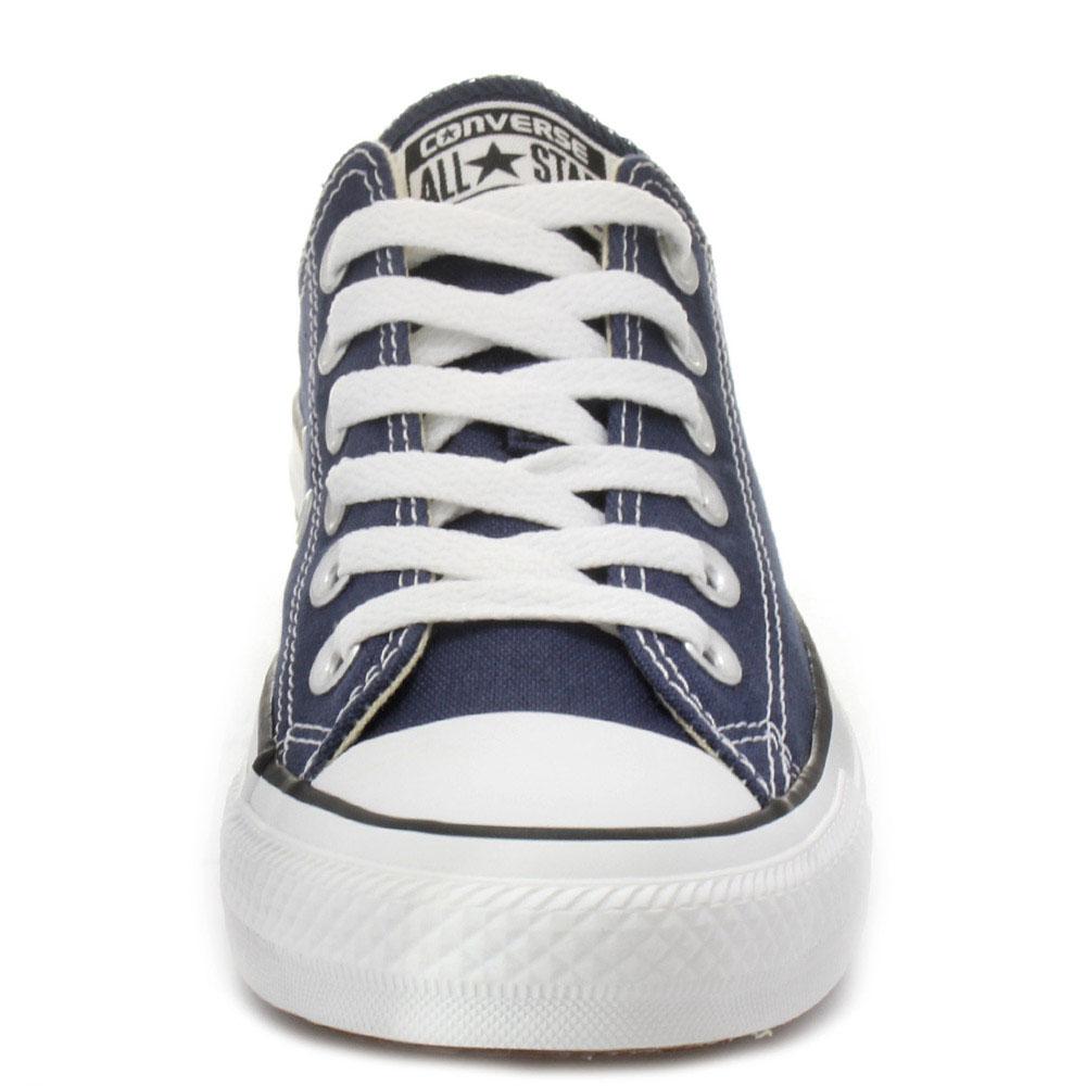 Низкие синие кеды Converse Chuck Taylor на белой подошве