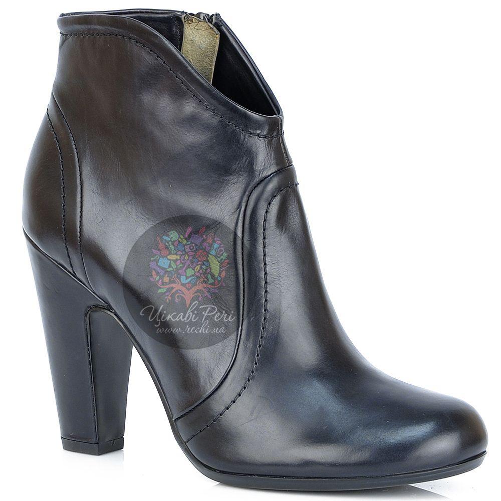 Ботильоны Laura Mannini кожаные черные на английском каблуке