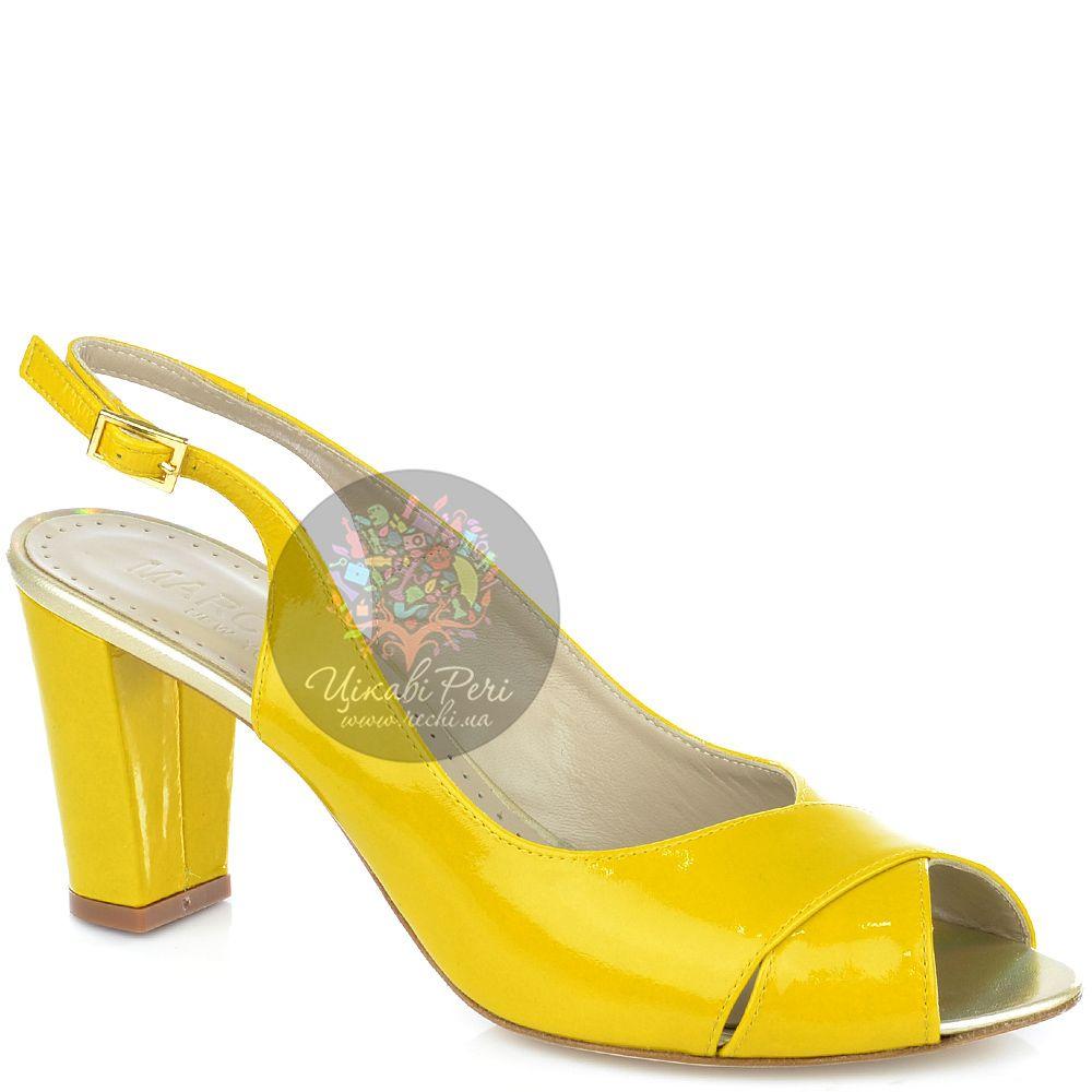 Босоножки Marc Ellis из желтой лаковой кожи