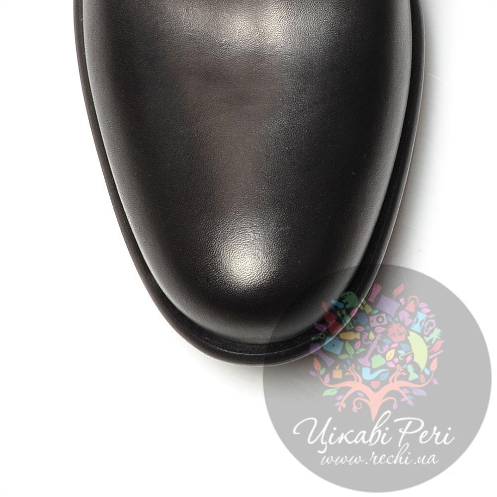 Сапоги Miu Miu черные кожаные