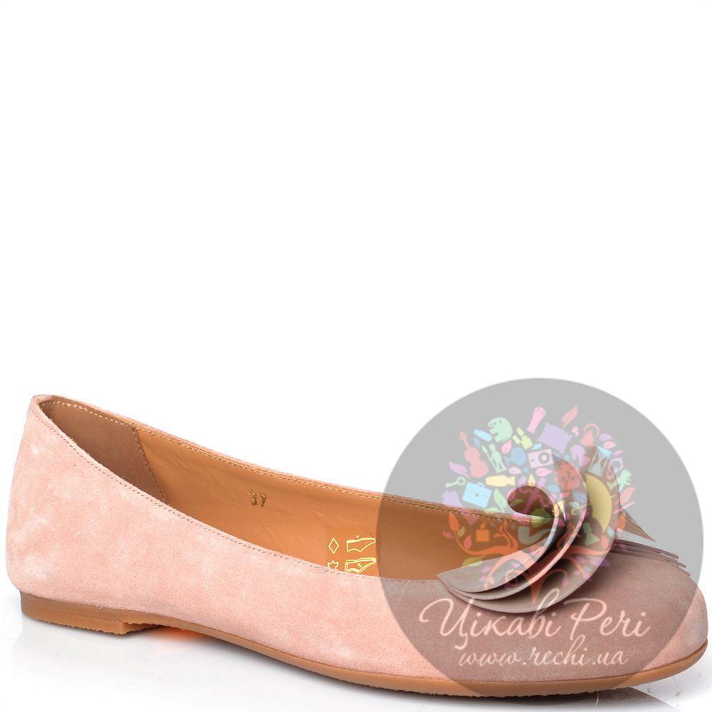 Балетки Miu Miu из нежно-розовой замши
