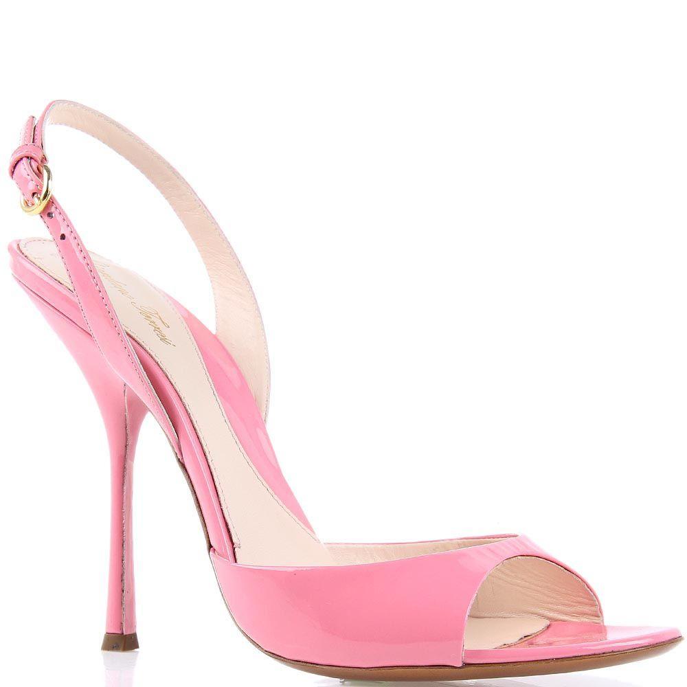 Босоножки Giordano Torresi Morea из лаковой кожи нежно-розового цвета