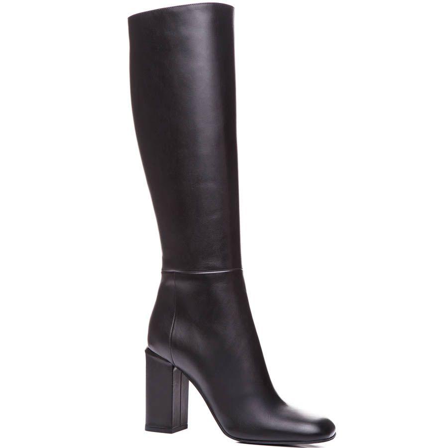 Сапоги Marni осенние черного цвета на устойчивом каблуке