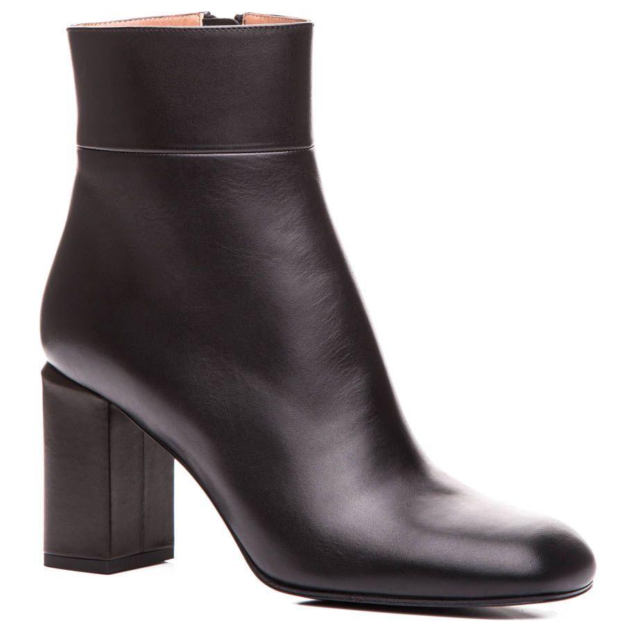 Полусапоги Marni кожаные черного цвета с фигурным каблуком