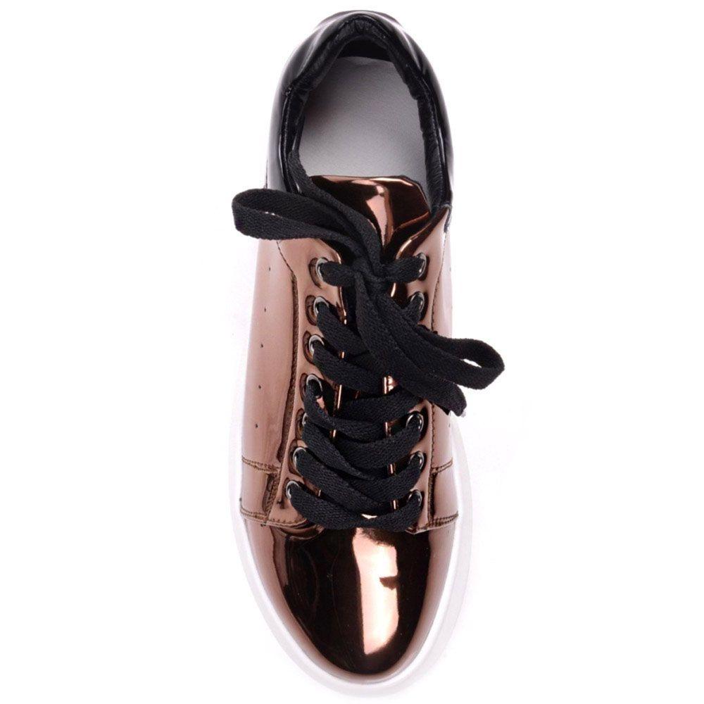 Кроссовки Prego бронзового цвета на белой подошве