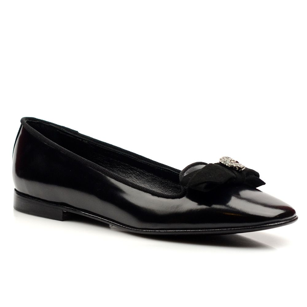 Женские балетки кожаные John Richmond черные