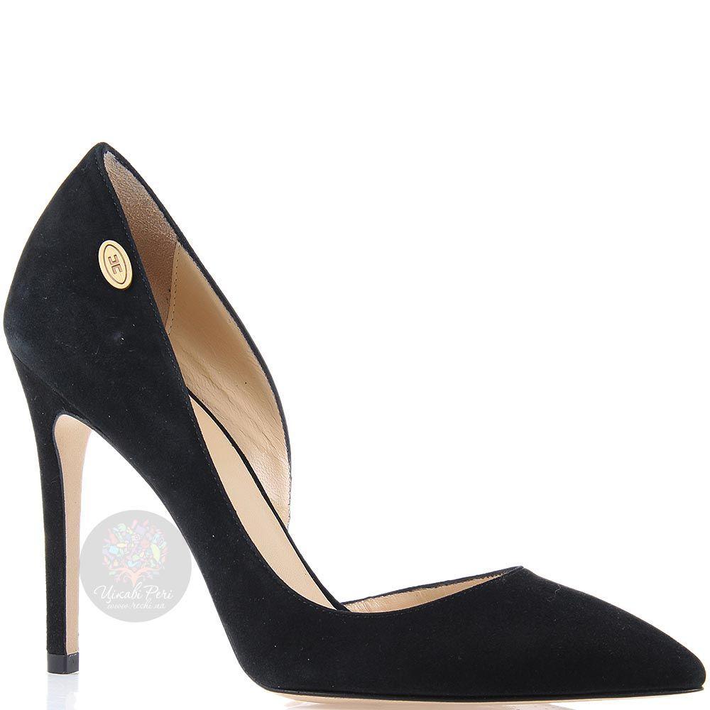 Туфли-лодочки Elisabetta Franchi черного цвета замшевые