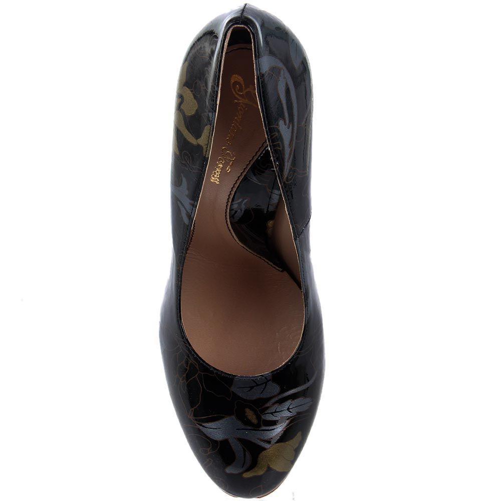 Расписные кожаные туфли Giordano Torresi New Gersey Jap в черно-золотых тонах