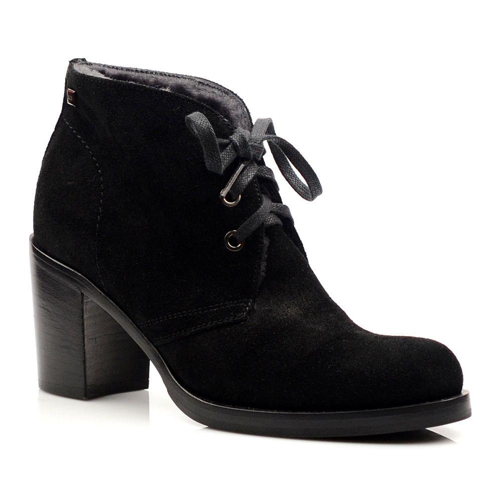 Женские зимние замшевые ботинки Norma J Baker черные