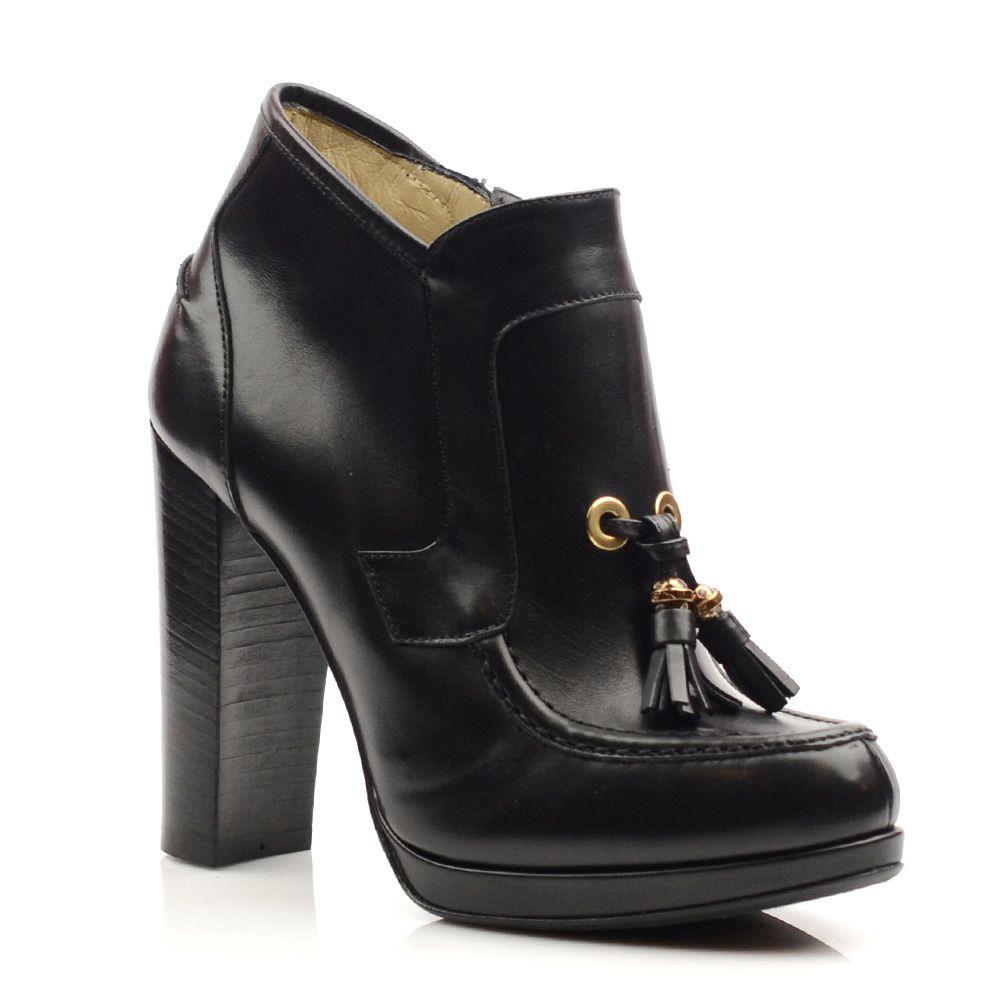 Женские кожаные ботильоны Norma J Baker черные
