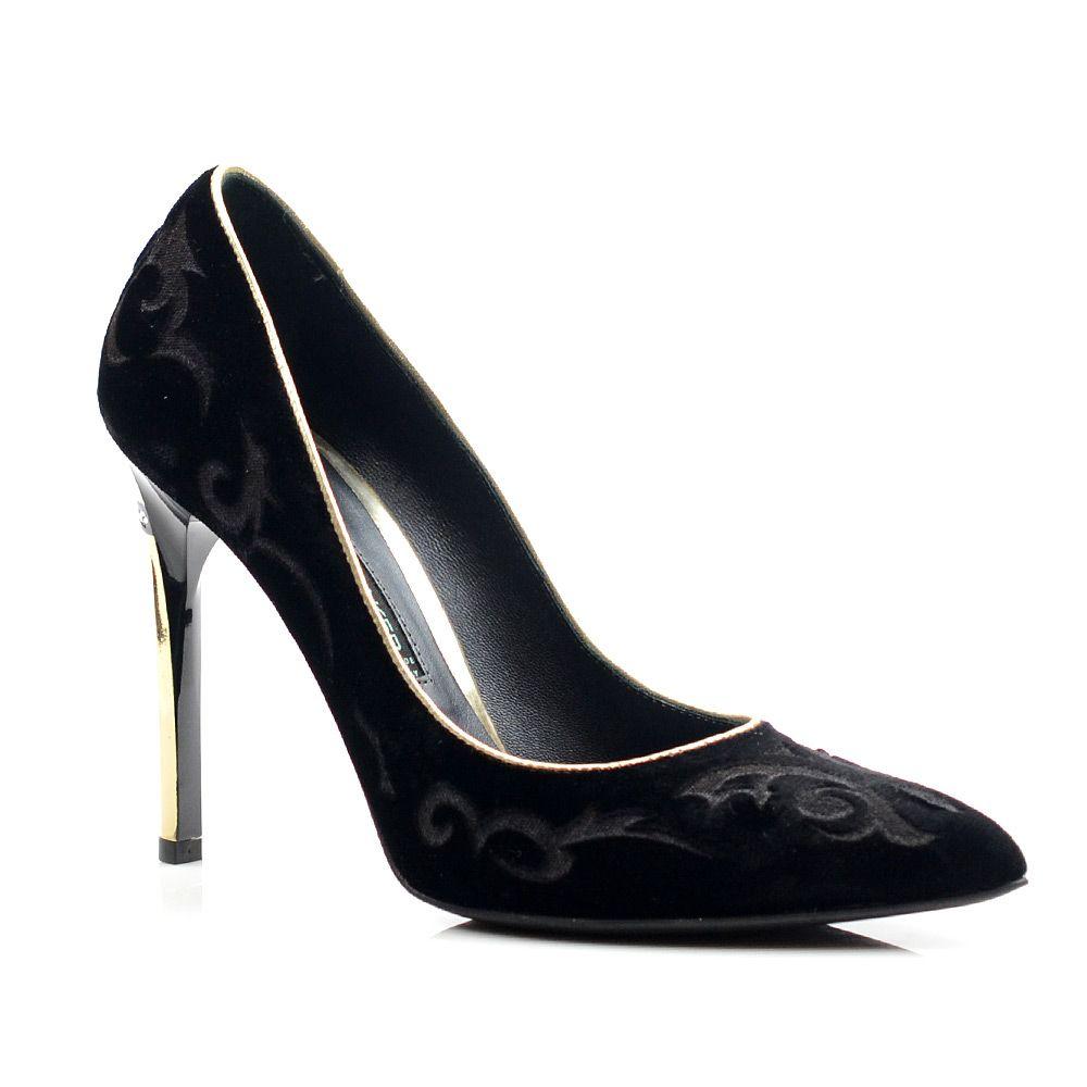 Женские замшевые туфли с узором Norma J Baker черные