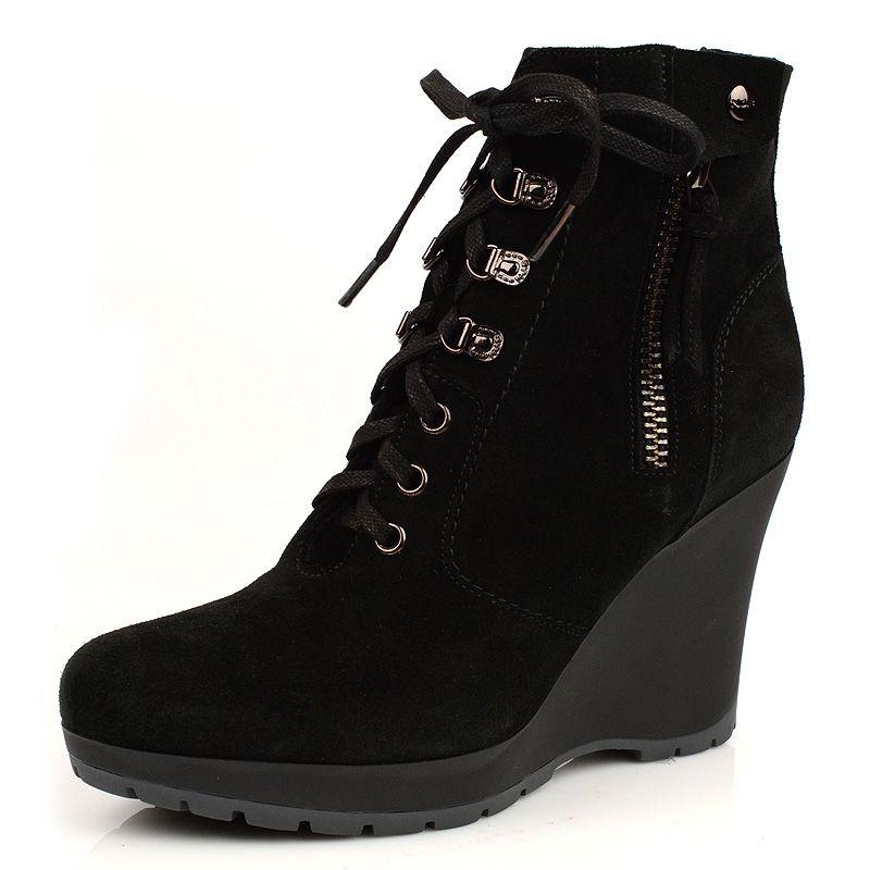 Зимние ботинки на меху Norma J Baker черные