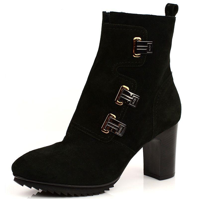 Замшевые ботинки на меху Norma J Baker темно-зеленые