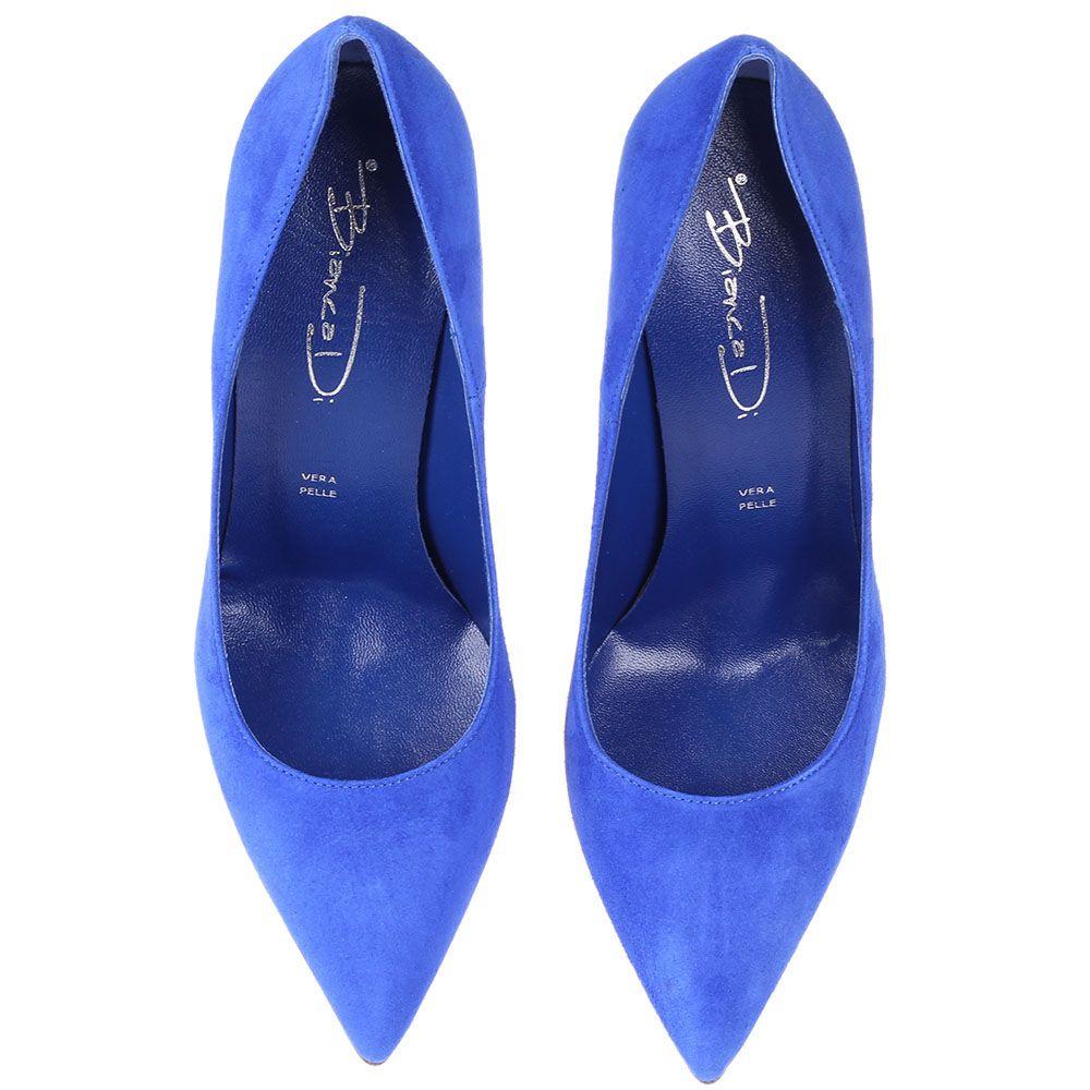 Туфли-лодочки Bianca Di из замши кобальтового цвета