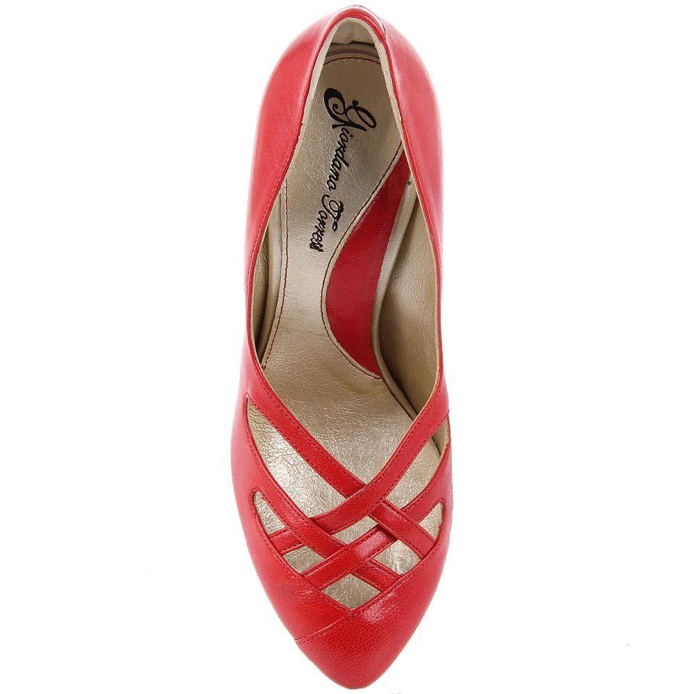 Туфли Giordano Torresi Opale красного цвета с резными переплетениями