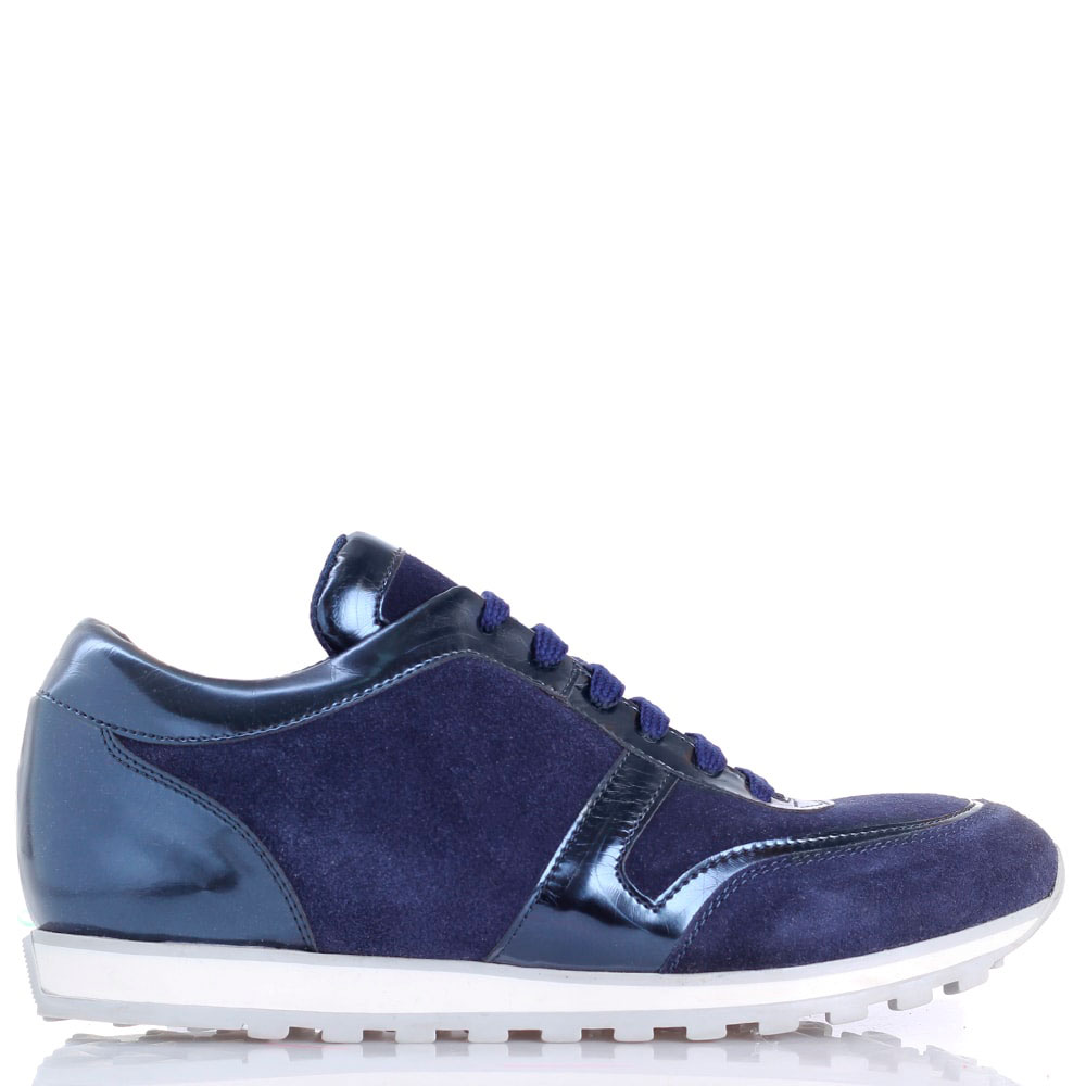 Замшевые кроссовки P.A.R.O.S.H. синего цвета
