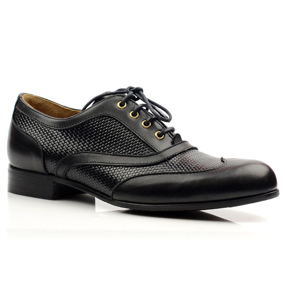 Женские кожаные туфли Pollini черные
