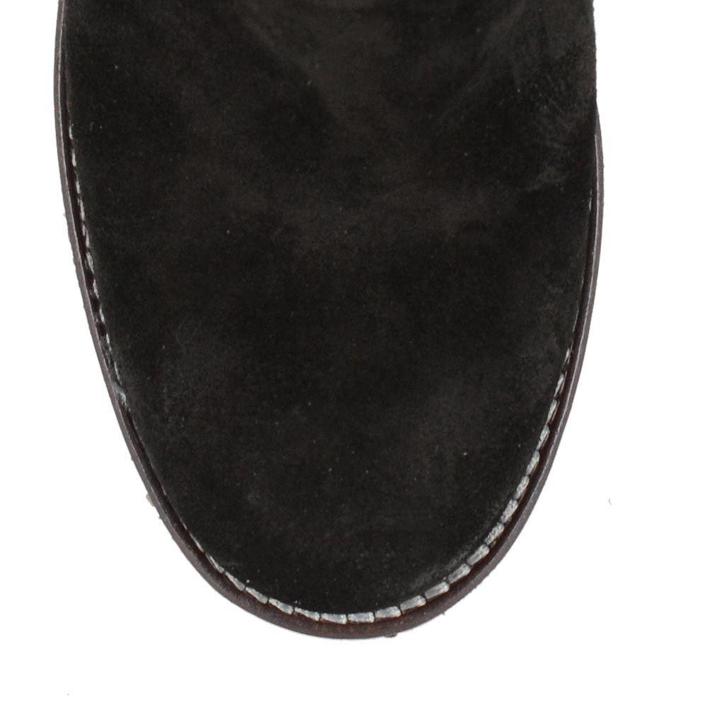 Черные замшевые сапоги U.S. Polo на устойчивом каблуке