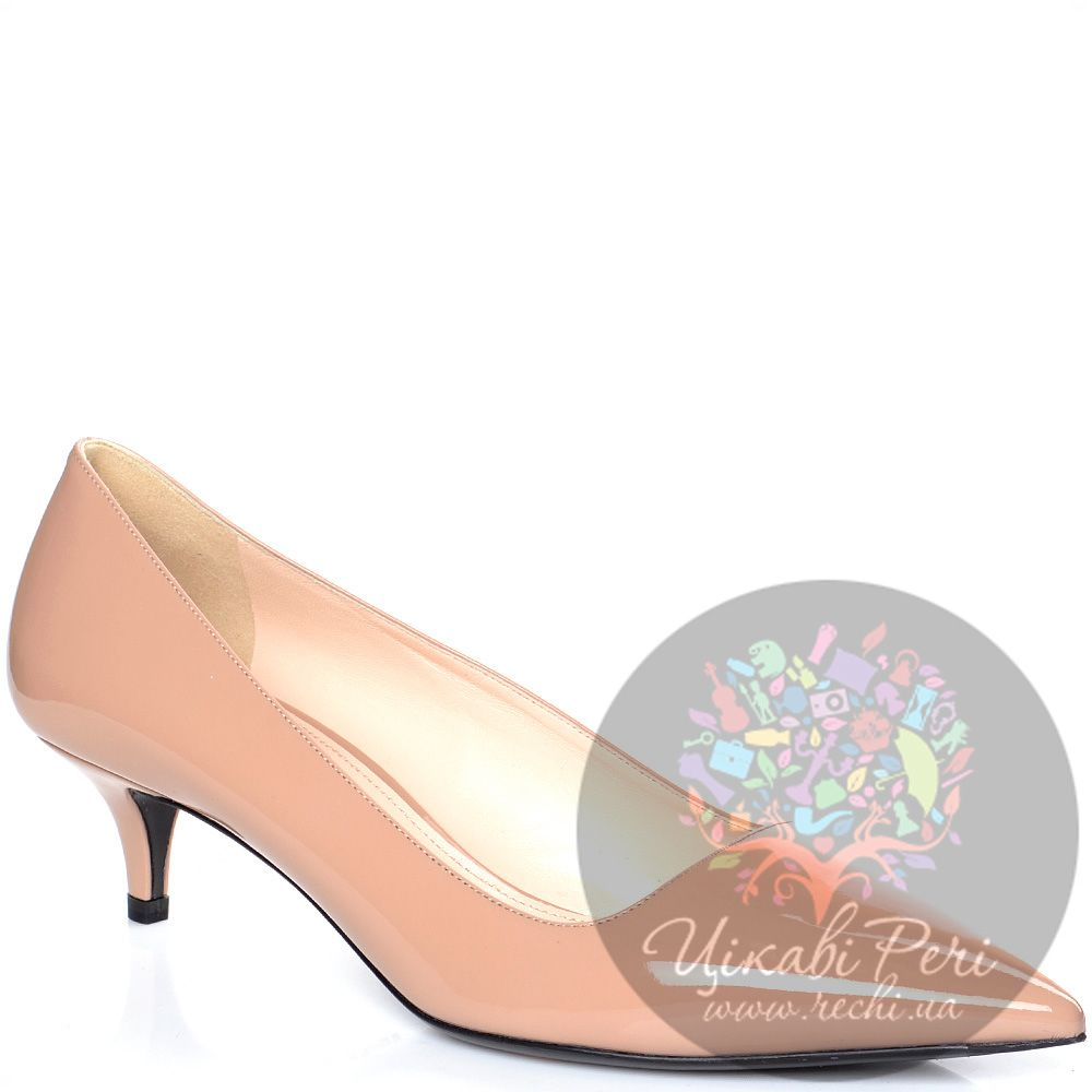 Туфли Prada из лаковой кожи цвета пудры