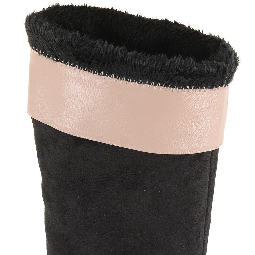 Сапоги зимние Roberto Serpentini замшевые черные с натуральным мехом