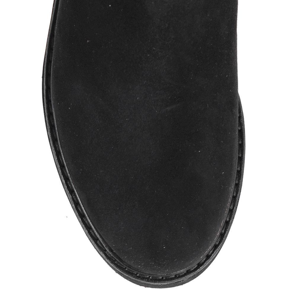 Замшевые ботинки Giorgio Fabiani со вставками-резинками и золотистой декоративной пряжкой