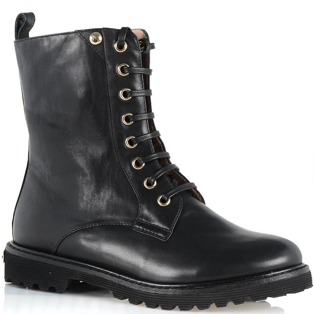 Стильные кожаные ботинки Giorgio Fabiani черного цвета