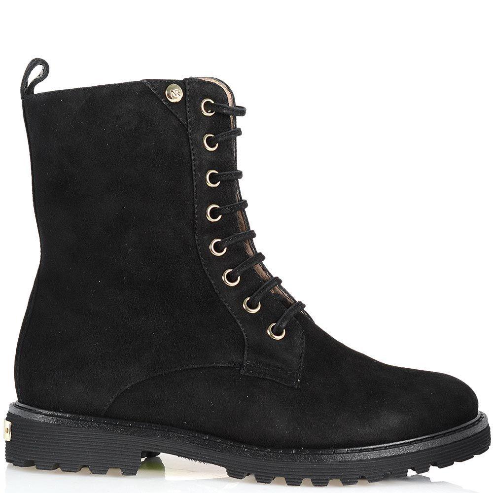 Замшевые ботинки Giorgio Fabiani на шнуровке