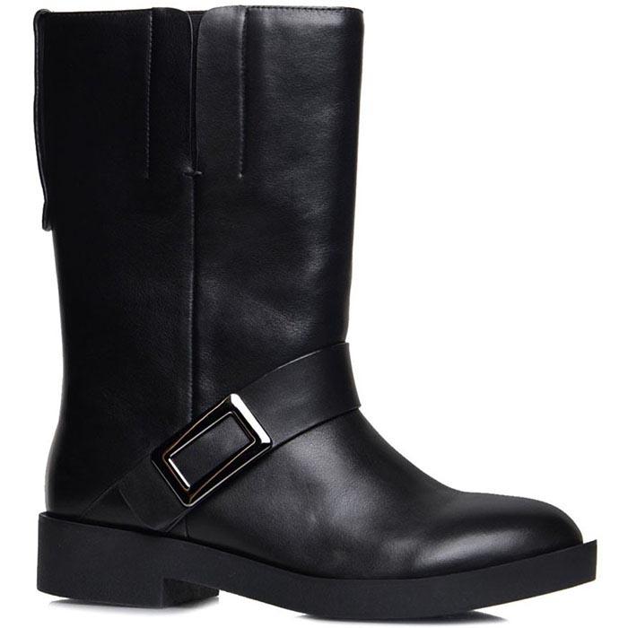 Высокие ботинки Prego черного цвета с ремешком