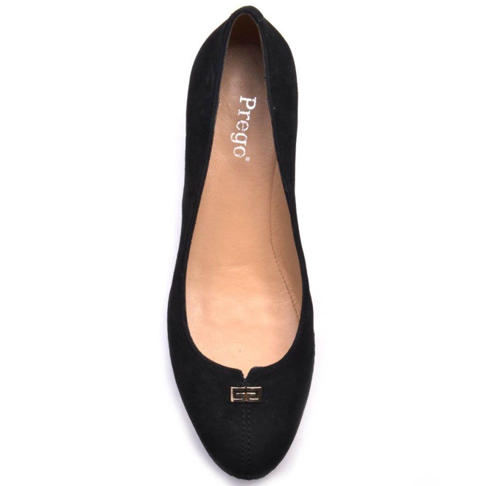 Туфли Prego из натуральной черной замши на танкетке